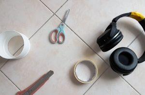 How to fix broken headphone plastic